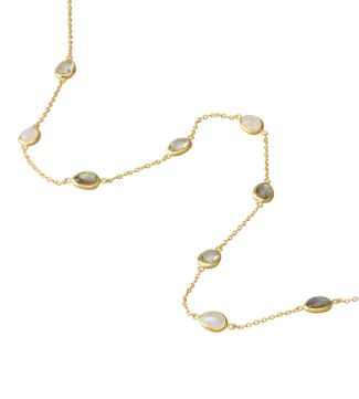 The Mara 18ct Gold Vermeil & Gemstone Necklace | OSPREY LONDON