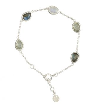 The Mara Sterling Silver & Gemstone Bracelet | OSPREY LONDON