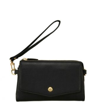 The Margot Leather Cross-Body in black | OSPREY LONDON