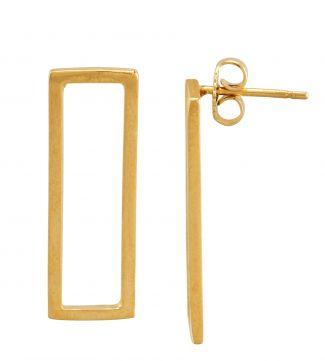 The Mariella Long Frame 18ct Gold Vermeil Earrings | OSPREY LONDON