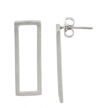 The Mariella Long Frame Sterling Silver Earrings | OSPREY LONDON