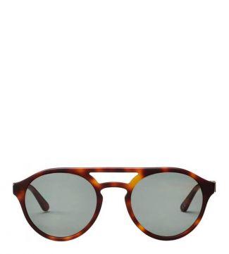 The Pathfinder Sunglasses in chocolate tortoiseshell   OSPREY LONDON
