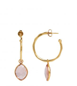 The Popsicle 18ct Gold Vermeil Hoop Earrings in apricot | OSPREY LONDON