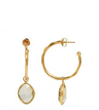The Popsicle 18ct Gold Vermeil Hoop Earrings in lemon yellow | OSPREY LONDON