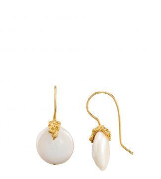 The Rococo Button Drop Earrings   OSPREY LONDON