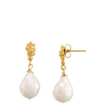 The Rococo Globe Pearl Earrings   OSPREY LONDON