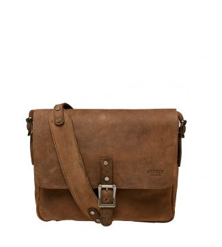 The Clayton Leather Satchel in chocolate | OSPREY LONDON