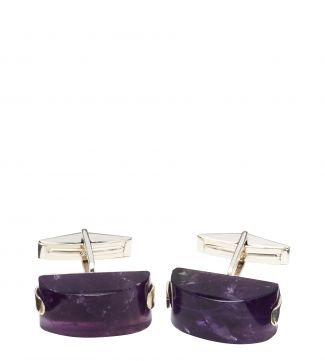 Silver & Amethyst Cufflinks | OSPREY LONDON