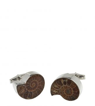 Silver & Ammonite Cufflinks | OSPREY LONDON