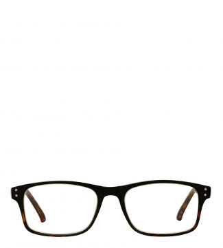 The Ballard Reading Glasses in shiny black graduated tortoiseshell | OSPREY LONDON