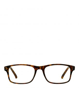 The Ballard Reading Glasses in shiny amber tortoiseshell | OSPREY LONDON