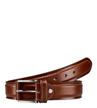 The Caine Leather Belt in cognac | OSPREY LONDON