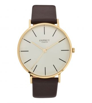 The Carlsten Gentlemen's Watch in chocolate | OSPREY LONDON