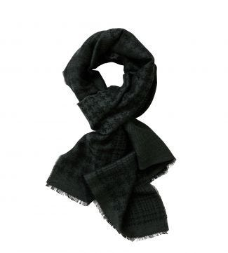 The Charles Scarf in forest green | OSPREY LONDON