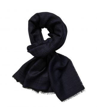 The Charles Scarf in navy blue | OSPREY LONDON