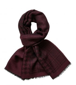 The Charles Wool Scarf in wine | OSPREY LONDON