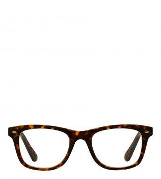 The Fitzgerald Reading Glasses in dark chocolate tortoiseshell | OSPREY LONDON