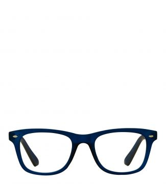The Fitzgerald Reading Glasses in matte dark blue | OSPREY LONDON