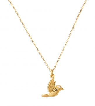 The Heavenly Dove 14ct Gold Vermeil Necklace | OSPREY LONDON