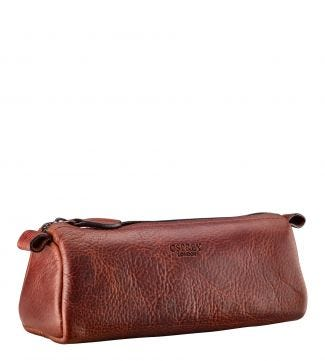 The Leather Charger Pouch in cognac | OSPREY LONDON