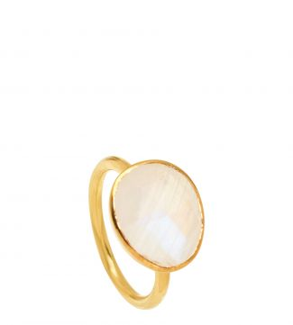 The Mara 18ct Gold Vermeil & Moonstone Ring | OSPREY LONDON