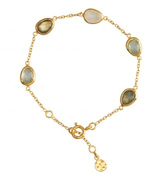 18ct Gold Vermeil & Gemstone Bracelet | OSPREY LONDON