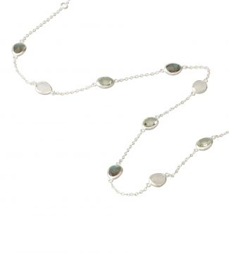 The Mara Sterling Silver & Gemstone Necklace | OSPREY LONDON