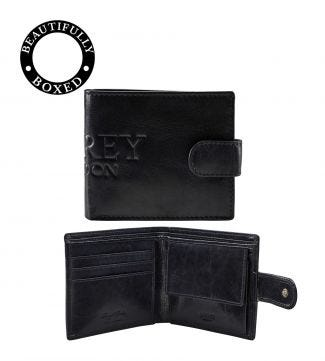 The Osprey Leather Billfold Wallet with Coin Section in navy | OSPREY LONDON