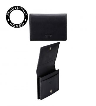 The Pall Mall leather Business Cardholder in black | OSPREY LONDON