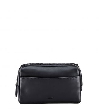 The Pall Mall Slim Washbag in black | OSPREY LONDON