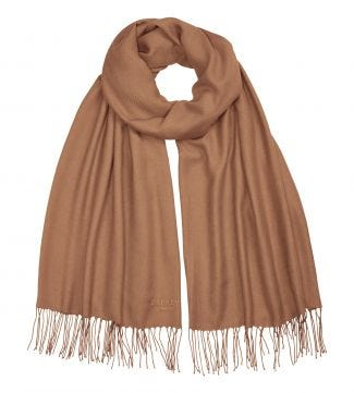 The Rainbow Wrap in camel | OSPREY LONDON