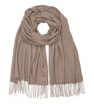 The Rainbow Wrap in taupe | OSPREY LONDON