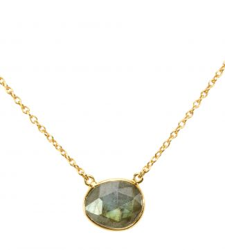 The Versailles 18ct Gold Vermeil Labradorite Necklace | OSPREY LONDON