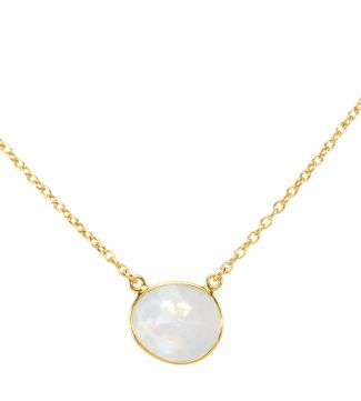 The Versailles 18ct Gold Vermeil Moonstone Necklace | OSPREY LONDON