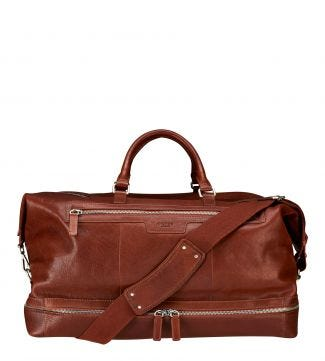 The Watson Leather Weekender in cognac | OSPREY LONDON