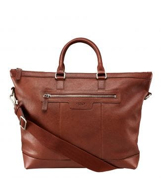 The Watson Leather Tote in cognac | OSPREY LONDON