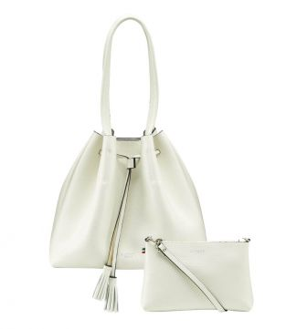 The Portofino Italian Leather Hobo in coconut white | OSPREY LONDON