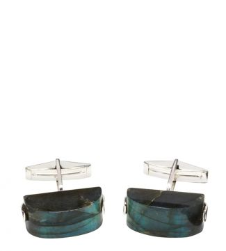 OSPREY LONDON Silver & Labradorite Cufflinks.