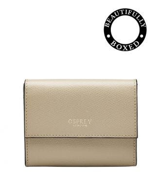 The Rainbow Leather Matinee Purse in taupe | Women | OSPREY LONDON