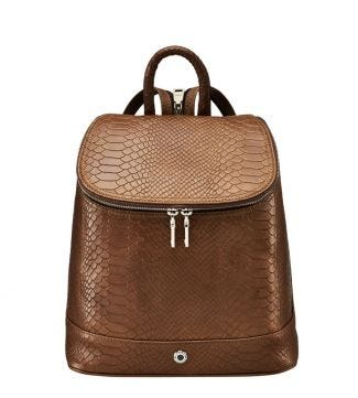The Southbank Leather Rucksack in chocolate | OSPREY LONDON