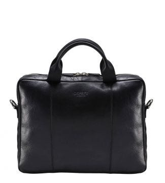 The Farringdon Leather Laptop Bag in black | OSPREY LONDON