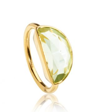 OSPREY LONDON | The Versailles Green Amethyst Half-Moon Ring