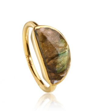 OSPREY LONDON | The Versailles Labradorite Half-Moon Ring
