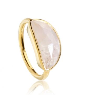 OSPREY LONDON | The Versailles Moonstone Half-Moon Ring