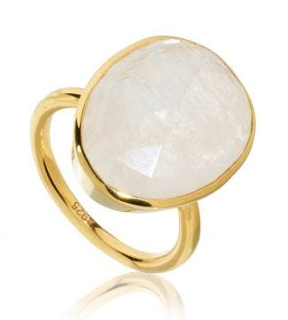 OSPREY LONDON | The Versailles Gold & Moonstone Cocktail Ring
