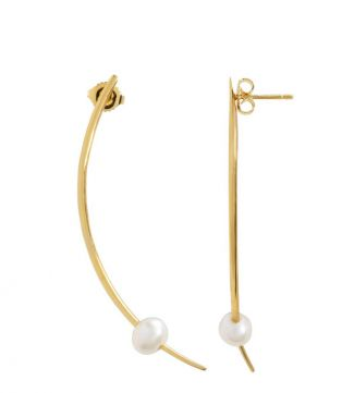 OSPREY LONDON | The Warrior Pearl & Gold Earrings