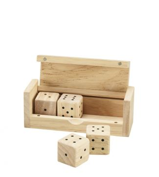 Luxury Wooden Boxed Dice | OSPREY LONDON