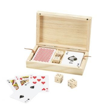 Luxury Wooden Cards & Dice | OSPREY LONDON