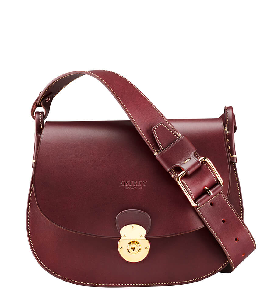e7fc3a9055 The Epsom Italian Leather Cross-Body. £495.00. OSPREY LONDON ...