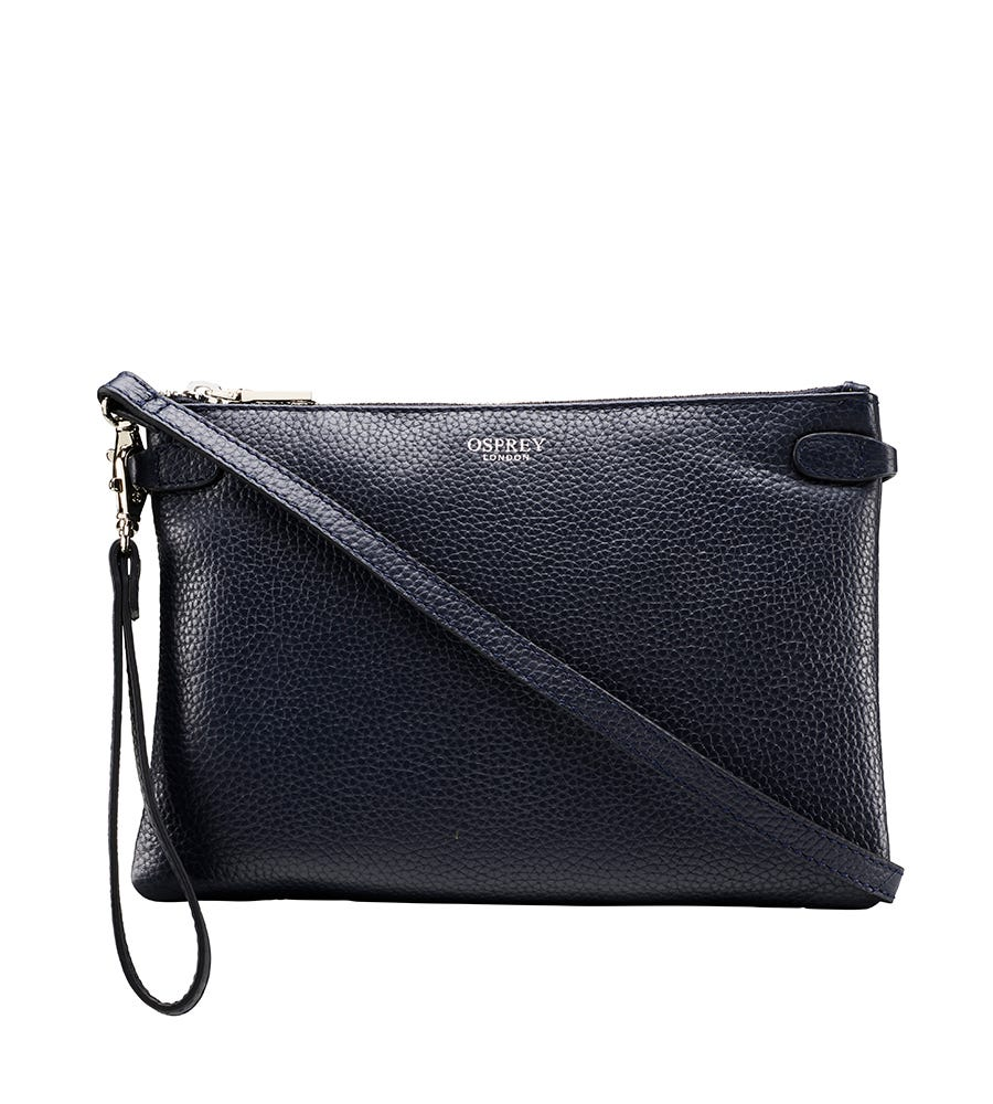 An image of The Madison Leather Cross-Body Clutch